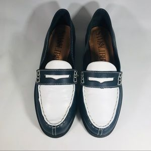 Sam & Libby Navy and White Loafers - Size 7B